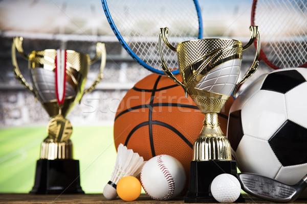 Logro trofeo ganar deporte campeón negocios Foto stock © JanPietruszka