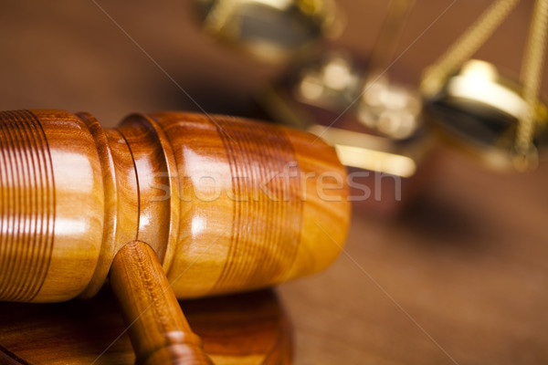 Ley juez justicia estudio madera martillo Foto stock © JanPietruszka