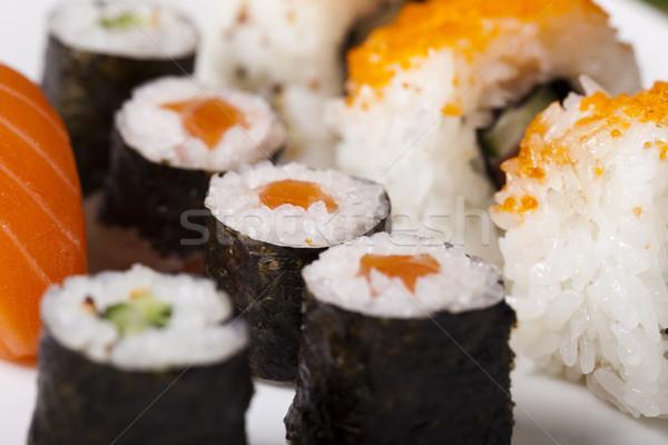 Tradicional comida japonesa sushi peixe mar restaurante Foto stock © JanPietruszka
