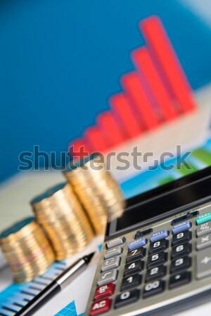 Grafikon diagram felirat pénzügy diagram stock Stock fotó © JanPietruszka