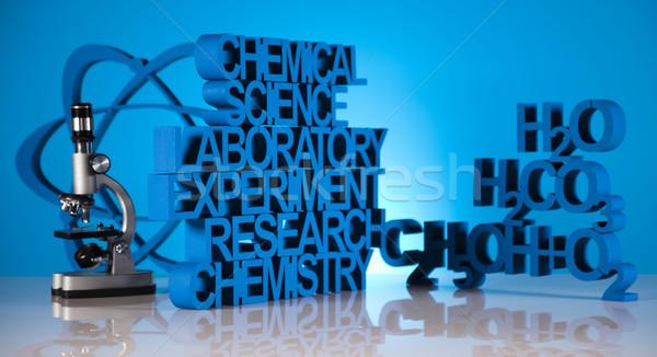 Kimya formül tıp bilim şişe laboratuvar Stok fotoğraf © JanPietruszka