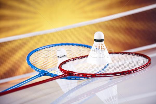 Badminton raquette sport été amusement plumes Photo stock © JanPietruszka