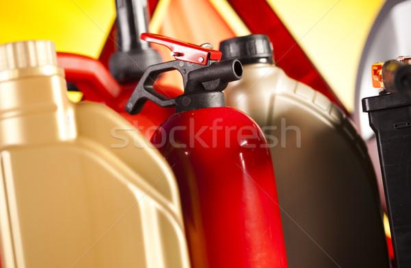 Araba canlı moto ışık arka plan Stok fotoğraf © JanPietruszka