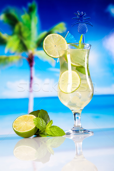Fresh mojito drink in exotic colorful theme Stock photo © JanPietruszka