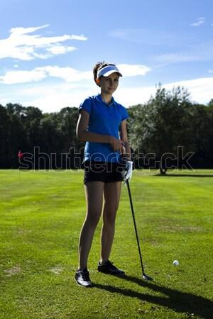 Golf, bright colorful vivid theme Stock photo © JanPietruszka