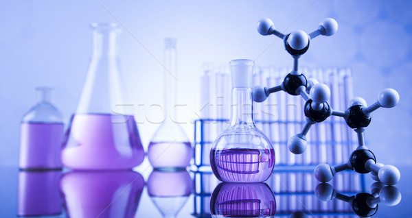 Science concept, Chemical laboratory glassware Stock photo © JanPietruszka