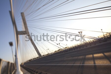 Huge bridge, saturated landmark view Stock photo © JanPietruszka