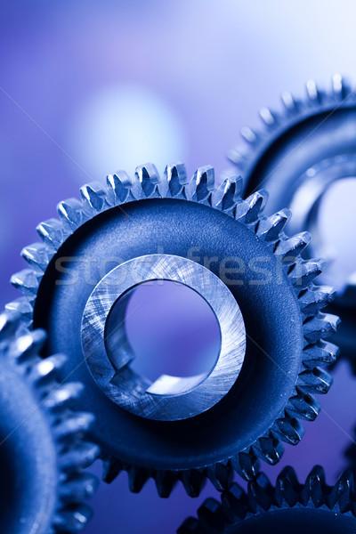 Gears, industrial mechanism, technic concept Stock photo © JanPietruszka