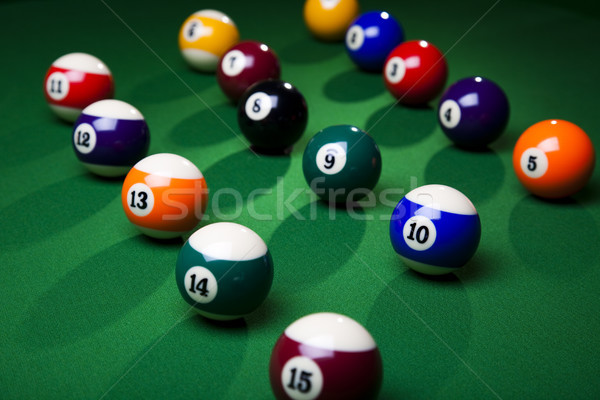 Billiard background, vivid colors, natural tone Stock photo © JanPietruszka