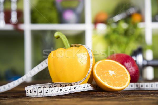 Alimenti freschi misura dieta vitamina fitness Foto d'archivio © JanPietruszka