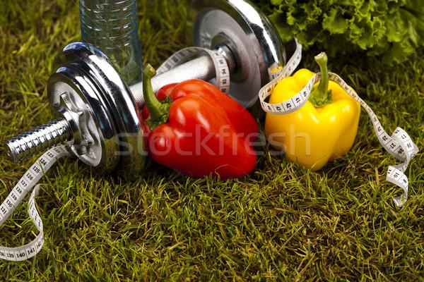 Zdjęcia stock: Fitness · witaminy · zdrowia · wykonywania · energii · tłuszczu