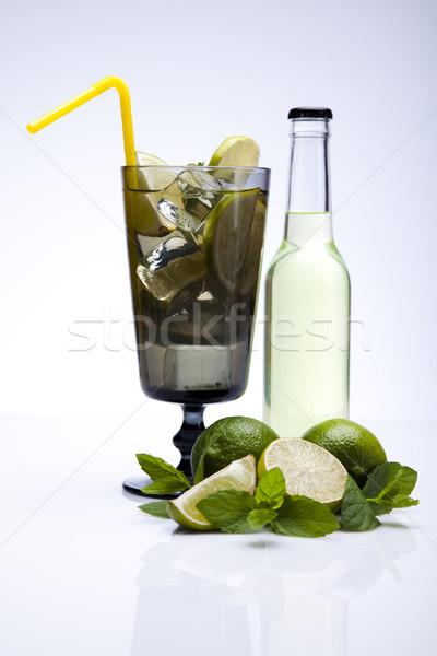świeże mojito pić liści owoców fale Zdjęcia stock © JanPietruszka