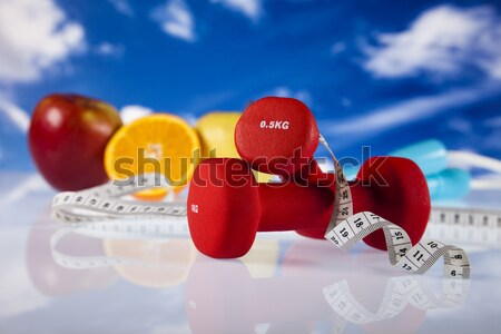 Dumbell, Weight loss, fitness Stock photo © JanPietruszka
