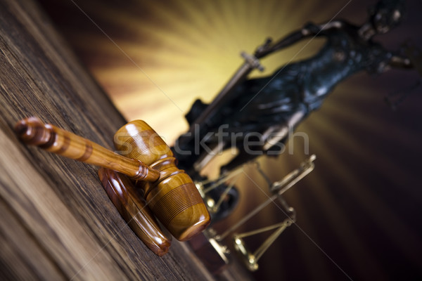 Statue of lady justice, Law concept and sunset Stock photo © JanPietruszka