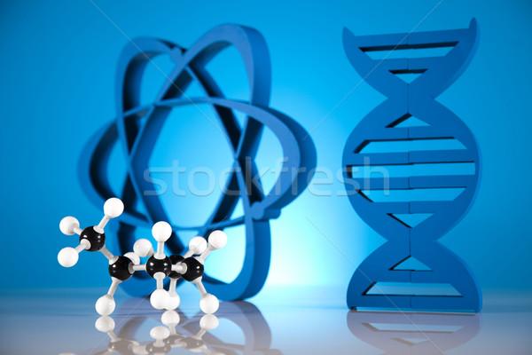 ADN moléculas átomo laboratorio cristalería agua Foto stock © JanPietruszka