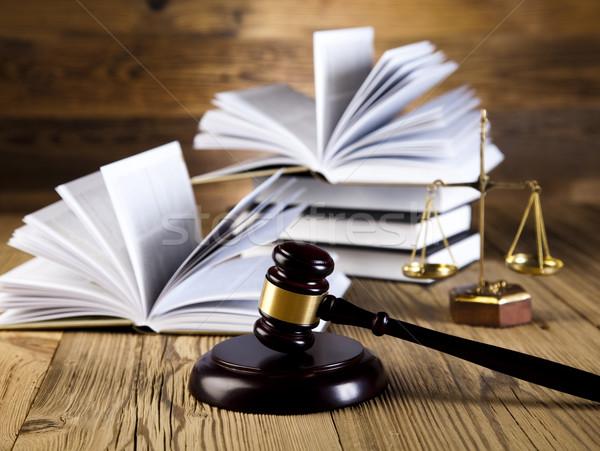 Legno martelletto giustizia giuridica avvocato giudice Foto d'archivio © JanPietruszka