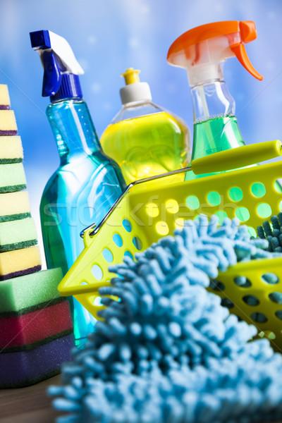 разнообразие чистящие средства домой работу красочный группа Сток-фото © JanPietruszka