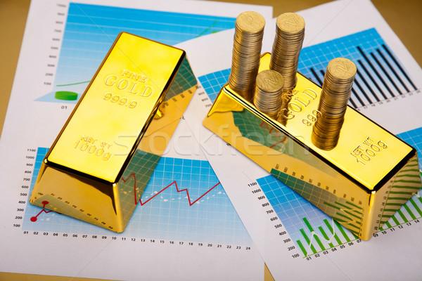 Financeiro bar dinheiro metal banco mercado Foto stock © JanPietruszka