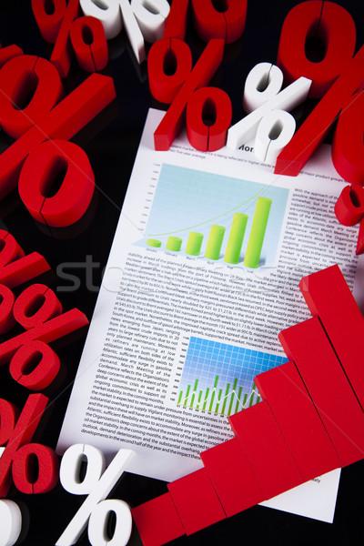 Venta por ciento signo naturales colorido rojo Foto stock © JanPietruszka