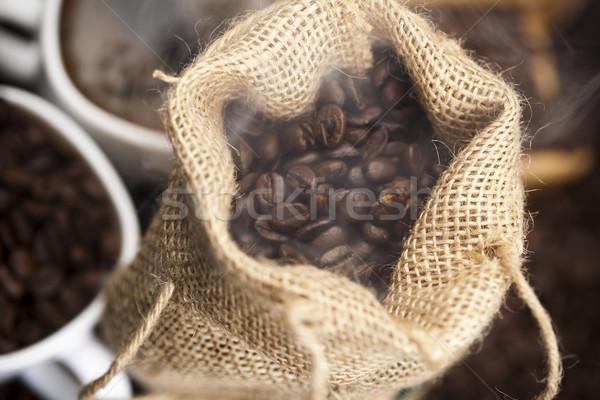 コーヒー豆 明るい テクスチャ 食品 フレーム ストックフォト © JanPietruszka