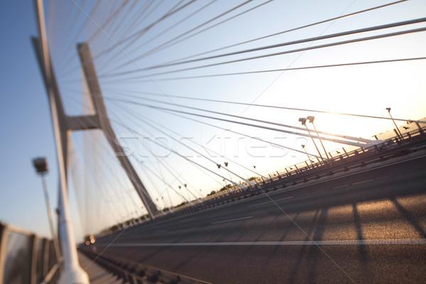Ponte punto di riferimento view cielo costruzione costruzione Foto d'archivio © JanPietruszka