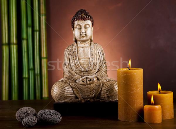Zen Buda heykel güneş duman dinlenmek Stok fotoğraf © JanPietruszka