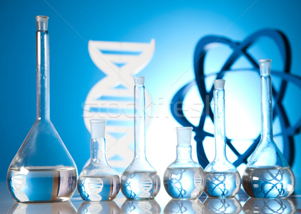 DNA molecules, atom, Laboratory glassware   Stock photo © JanPietruszka