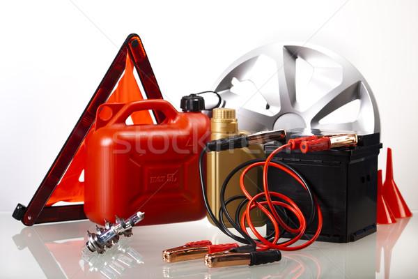 Ayarlamak otomobil parçaları araba pil canlı moto Stok fotoğraf © JanPietruszka