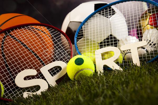 Artículos deportivos hierba naturales colorido deporte fútbol Foto stock © JanPietruszka