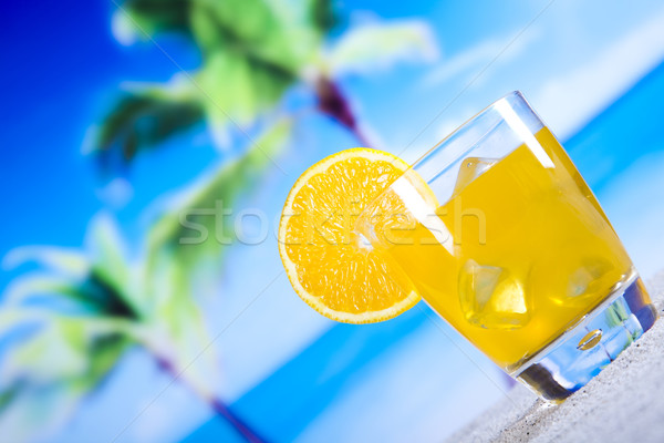 Cocktails, alcohol drinks set, natural colorful tone Stock photo © JanPietruszka