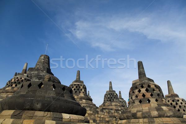 Templo java Indonésia viajar adorar estátua Foto stock © JanPietruszka