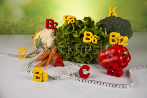 Witamina zdrowia fitness świeże owoce warzyw sportu Zdjęcia stock © JanPietruszka