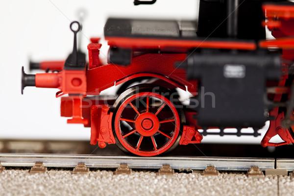 Vracht treinen oude locomotief model Stockfoto © JanPietruszka