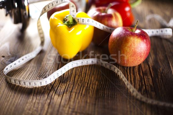 Sportu diety kaloria żywności fitness Zdjęcia stock © JanPietruszka