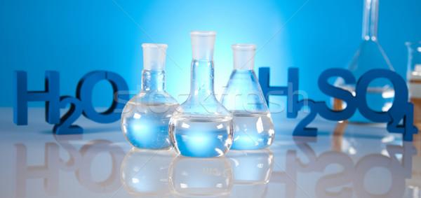 Steril laboratórium üvegáru gyógyszer tudomány üveg Stock fotó © JanPietruszka