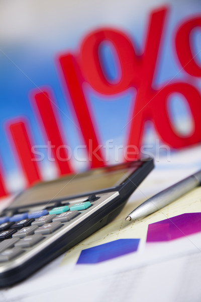 Concept of discount, Percent sign  Stock photo © JanPietruszka