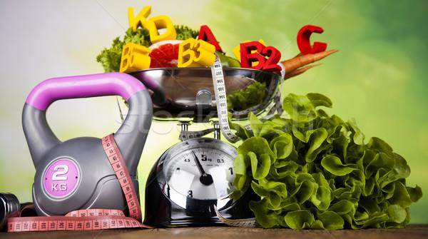 Fitness diety witaminy sportu owoców Zdjęcia stock © JanPietruszka