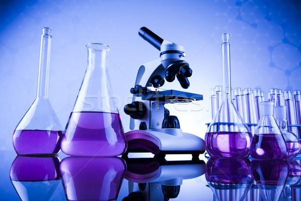 Microscópio médico laboratório pesquisa experiência educação Foto stock © JanPietruszka