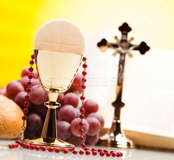Christian holy communion, bright background, saturated concept Stock photo © JanPietruszka