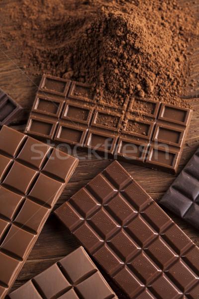 Dark chocolate with milk and candy sweet Stock photo © JanPietruszka