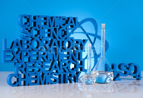 Kémia képlet gyógyszer tudomány üveg laboratórium Stock fotó © JanPietruszka