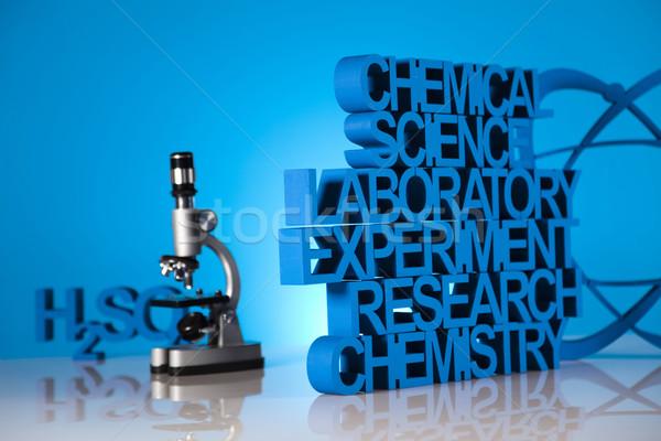 Chemistry formula background Stock photo © JanPietruszka