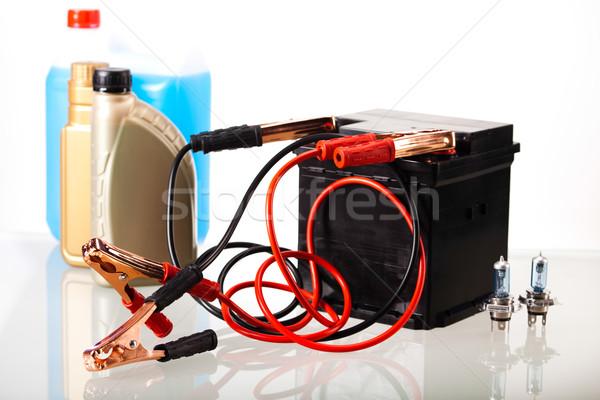 Car battery on vivid moto concept Stock photo © JanPietruszka