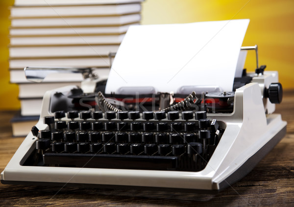 Typewriter and a blank sheet of paper Stock photo © JanPietruszka