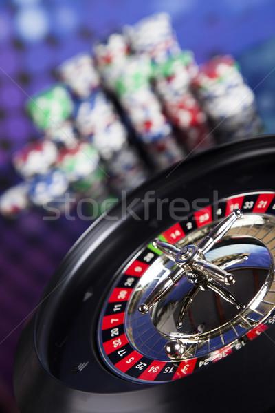 Roulette Casino spielen Chips Spaß Stock foto © JanPietruszka