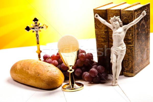 聖なる 聖餐 明るい イエス パン 聖書 ストックフォト © JanPietruszka