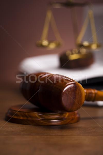 Stock fotó: Törvény · bíró · igazság · stúdió · fa · kalapács