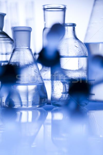 Laboratorio cristalería tecnología salud azul ciencia Foto stock © JanPietruszka