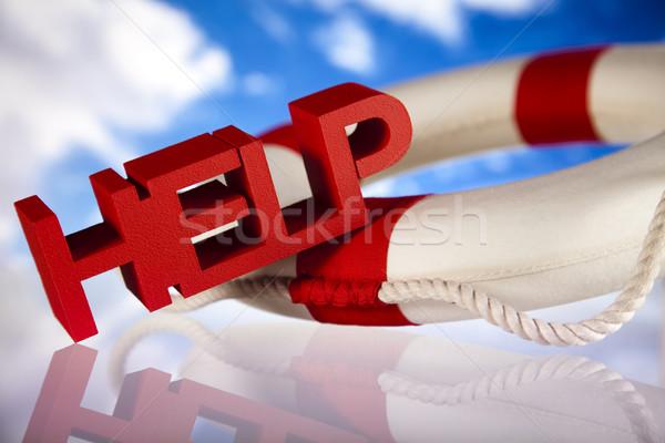 Helpen crisis geld pijl ondersteuning verzekering Stockfoto © JanPietruszka
