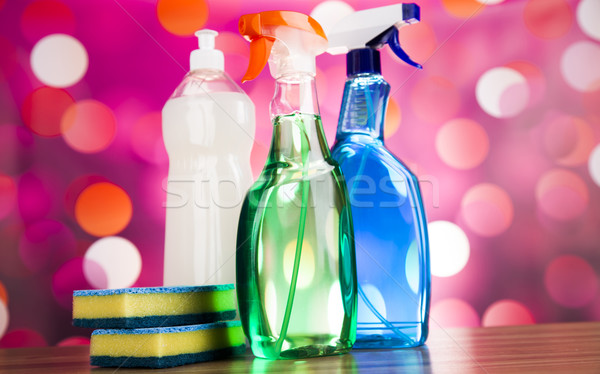 Schoonmaken uitrusting home werk kleurrijk groep Stockfoto © JanPietruszka